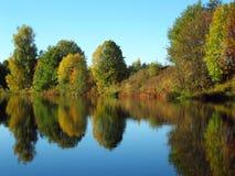 Cenário bonito do outono Foto de Stock Royalty Free