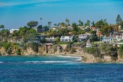 Cenário bonito em torno do Laguna Beach foto de stock