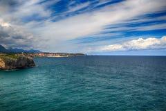 cenário com a costa do oceano nas Astúrias, Espanha Imagens de Stock