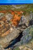 cenário com a costa do oceano nas Astúrias, Espanha Imagens de Stock Royalty Free