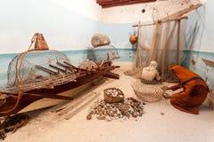 Cenário com pescadores beduínos Fotografia de Stock