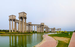 Cenário da cidade, China da cidade de Tianjin Foto de Stock