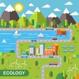 Cenário da cidade da ecologia Fotos de Stock Royalty Free
