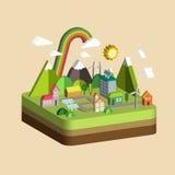 Cenário da cidade da ecologia Fotos de Stock