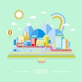 Cenário da cidade da ecologia Foto de Stock