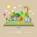 Cenário da cidade da ecologia Imagens de Stock
