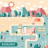 Cenário da cidade da ecologia Imagem de Stock Royalty Free