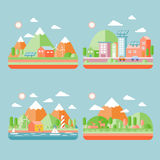 Cenário da cidade da ecologia Fotografia de Stock Royalty Free