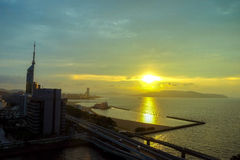 Cenário da cidade de Fukuoka em Japão Imagem de Stock Royalty Free
