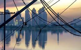 Cenário da cidade de Wuhan imagem de stock