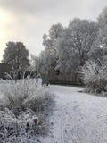 Cenário da cidade do inverno imagens de stock