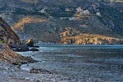 Cenário da costa de Peloponnese Fotos de Stock