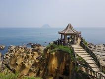 Cenário da costa norte de Taiwan imagens de stock