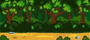 Cenário da floresta Fotos de Stock