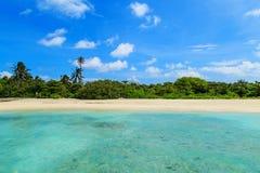 Cenário da ilha de Maldivas Foto de Stock Royalty Free