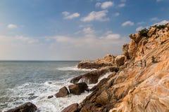 Cenário da ilha de Putian Meizhou Foto de Stock
