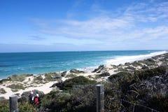 Cenário da luz do dia na praia norte em Perth, Austrália Ocidental Fotos de Stock