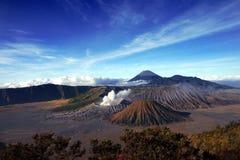 Cenário da montanha de Bromo Fotografia de Stock Royalty Free