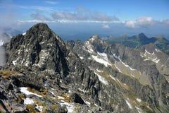Cenário da montanha de Vysoke Tatry em Eslováquia imagem de stock royalty free