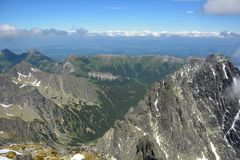 Cenário da montanha de Vysoke Tatry em Eslováquia imagem de stock