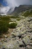 Cenário da montanha de Vysoke Tatry em Eslováquia fotografia de stock royalty free