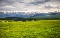 Cenário da montanha do verão em Cazaquistão imagem de stock royalty free
