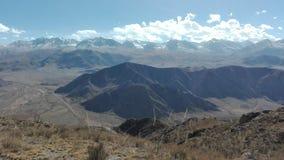 Cenário da montanha em Bokonbayevo em Quirguizistão 2 Imagem de Stock