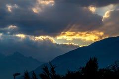 Cenário da montanha, panorama da montanha Fotografia de Stock Royalty Free