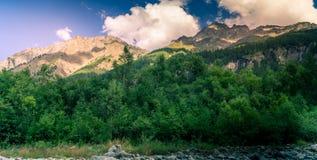 Cenário da montanha, panorama da montanha Fotografia de Stock