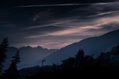 Cenário da montanha, panorama da montanha Foto de Stock Royalty Free