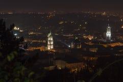 Cenário da noite de Lvov Foto de Stock