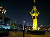 Cenário da noite de Qingdao de construções velhas fotos de stock royalty free