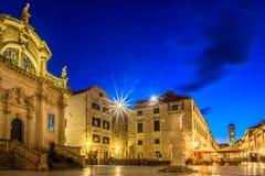 Cenário da noite em Dubrovnik, Europa fotos de stock royalty free