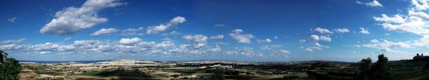 Cenário da paisagem com nuvens Fotografia de Stock Royalty Free