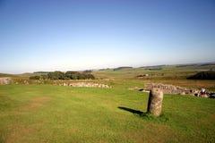 Cenário da parede de Hadrian foto de stock