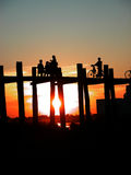 Cenário da ponte de Ubein Imagens de Stock