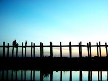 Cenário da ponte de Ubein Fotografia de Stock