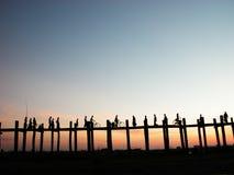 Cenário da ponte de Ubein Fotos de Stock Royalty Free