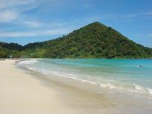 Cenário da praia de Kuta Fotos de Stock Royalty Free