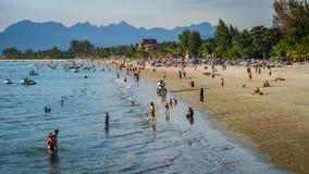 Cenário da praia de Langkawi Imagens de Stock