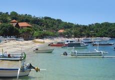 Cenário da praia em Bali Imagem de Stock