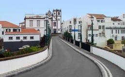 Cenário da rua em Ponta Delgada Imagens de Stock Royalty Free