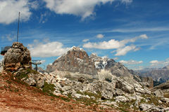 Cenário das montanhas - dolomites - os cumes italianos Fotografia de Stock Royalty Free