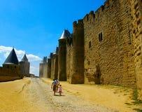 Cenário de Carcassonne Fotos de Stock Royalty Free