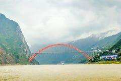 Cenário de China o Rio Yangtzé Three Gorges Fotografia de Stock Royalty Free
