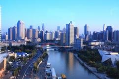 Cenário de Haihe em Tianjin foto de stock royalty free