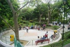 Cenário de Hong Kong Tuen Mun Park, em China Fotos de Stock Royalty Free