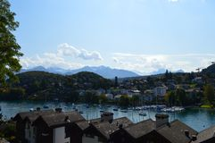 Cenário de Interlaken Fotografia de Stock Royalty Free