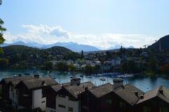 Cenário de Interlaken Foto de Stock Royalty Free