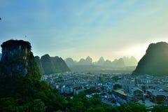 Cenário de Lijiang River Fotografia de Stock